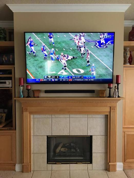 Installation for Any Size TV + Flat Mounting Bracket + 10ft. HDMI ...
